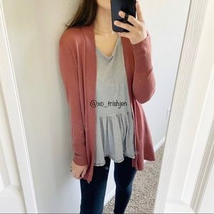 Mossimo fall dusty pink cardigan size M